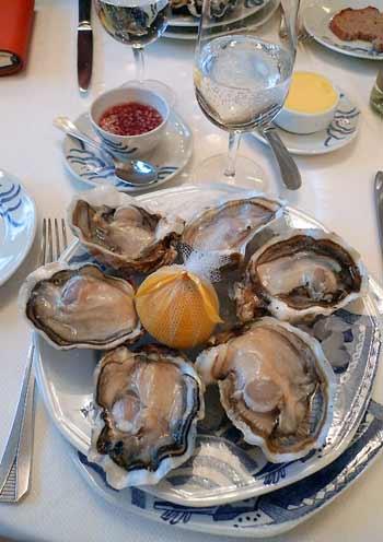 Les huîtres roses de chez Prunier