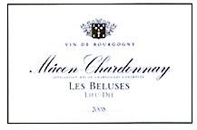 Cave de Lugny : «Les Beluses», AOC Mâcon-Chardonnay