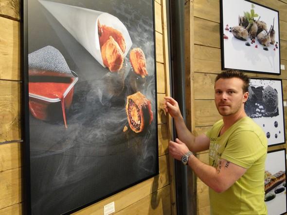 Anthony Cottarel et la photo qui a remporté le Prix du Public au Festival de la photo culinaire à Paris