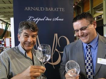 Regis Marcon pour une séance de dégustation avec Arnaud Baratte/laradiodugout.fr