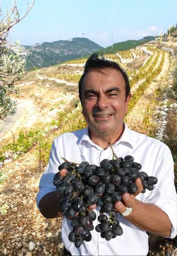 Exclusif: Carlos Ghosn dans son vignoble au Liban