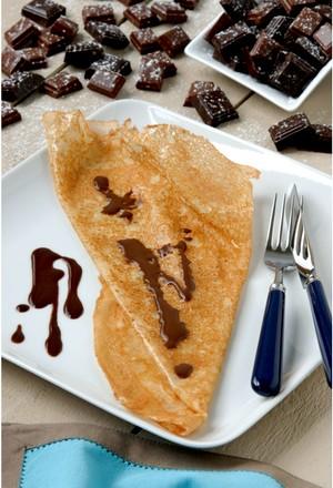 Crêpe chocolat ganache