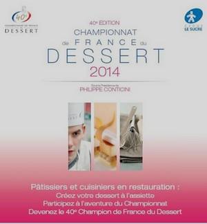 Appel à candidature pour le 40e Championnat de France du Dessert 2014