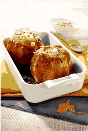Pommes au four et crèpes dentelles