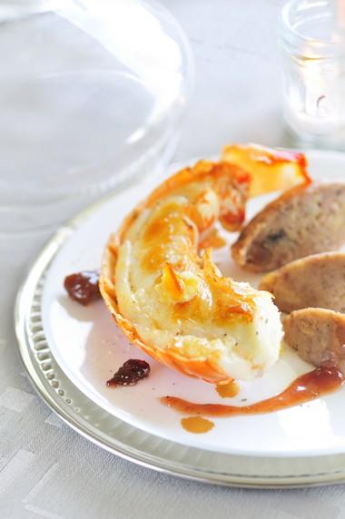 Langouste rôtie en carapace au beurre d'orange