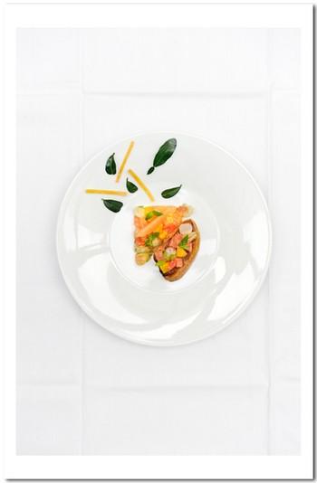 Pamplemouss'herbes et foie gras poêlé
