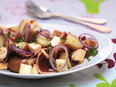 Salade de pommes de terre, Reblochon et magret de canard