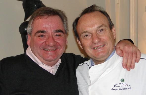 Serge avec Thierry Bourgeon au Mas Candille @ laradiodugout.fr