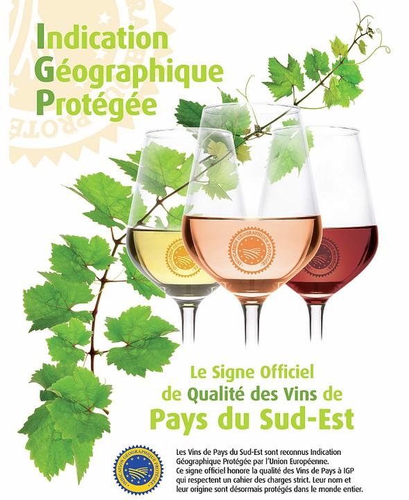 «IGP», sigle européen de qualité d'un vin