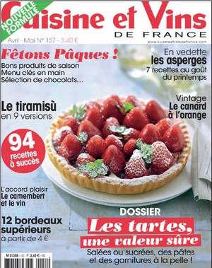 Cvf arrive en kiosque et f te l arriv e du printemps for Cuisine et vins de france