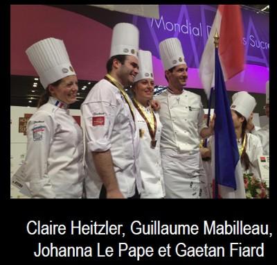 La France remporte le Mondial des Arts Sucrés 2014