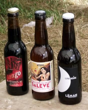 Bières régionales destinées à l'atelier Accord fromages et bières de savoie.©G.Conreur