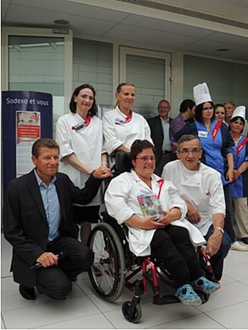 Isabelle Dubuisson remporte le concours de cuisine Sodexo en faveur du handicap