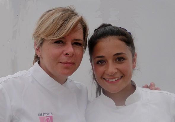 Christelle avec Victoire Garson, meilleur apprenti cuisinier de France/TB.laradiodugout.fr