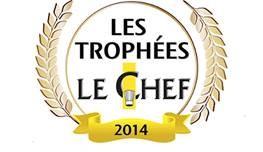 Les Chefs  de l'année :Arnaud Lallement, la pâtissière Ophélie Bares et la sommelière Caroline Furstoss,