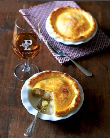 Mini-Tourte pomme poire au Pineau des Charentes
