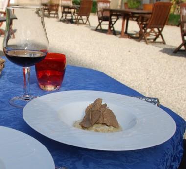 Risotto au potimarron et à la truffe fraîche de Bourgogne