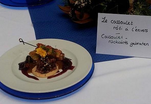 En Allemagne un menu français comme il y a cent ans