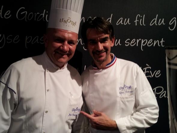 Jean-Christophe Jeanson à gauche aux côtés de Guy Krenzer, chef de la création ©I.M/laradiodugout.fr