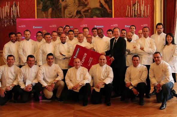 Chefs étoilés 2015 ©guide Michelin