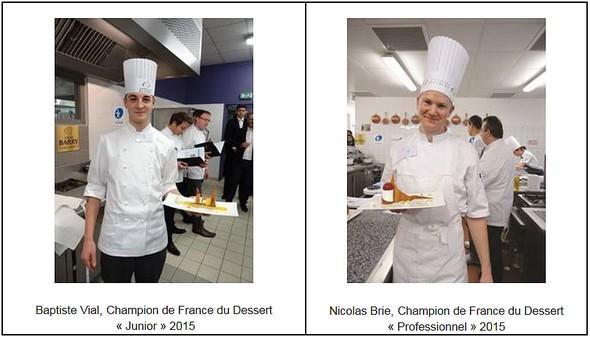 Résultats du 41e Championnat de France du Dessert