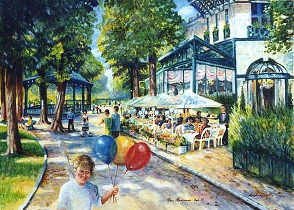 La terrasse du Pavillon Montsouris © Micheline Dohollou