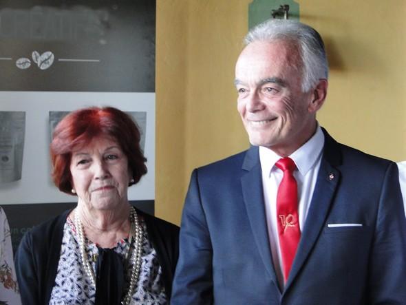 Denise Vergé et Richard Galy, le maire de Mougins/TB.laradiodugout.fr