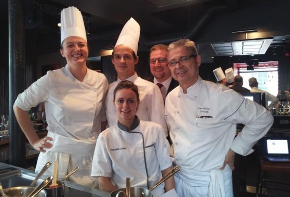 Jean Michel Lorain et une partie de sa brigade. Thomas Massoutier, Lydia Darasse, Noémie Giex, et Arnaud Laplanche.©IM/laradiodugout.fr