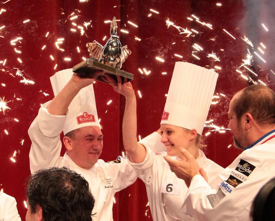 La remise du trophée