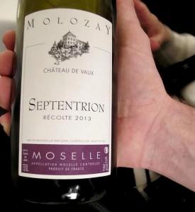 vin de Moselle dégusté au cours du repas