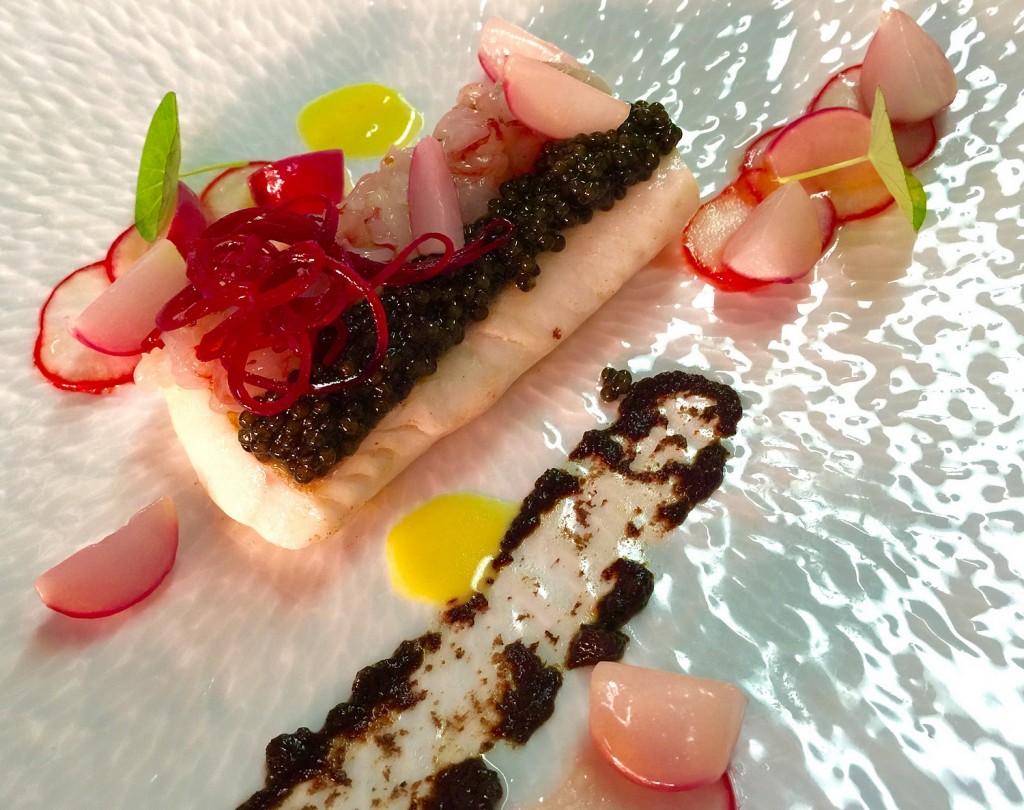 Merlan de ligne et Caviar Kristal