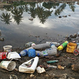 According to the world bank in a preliminary report findings on poverty calculates the poverty line at 0.88 cents a day whilst 49.9% people live below poverty line in Timor-Leste. Most waste is dumped directly onto pavements and garbage are seldom collected. Rivers filled wih plastic will spill the waste near and into the sea. Photo by Martine Perret/UNMIT 3 December 2008