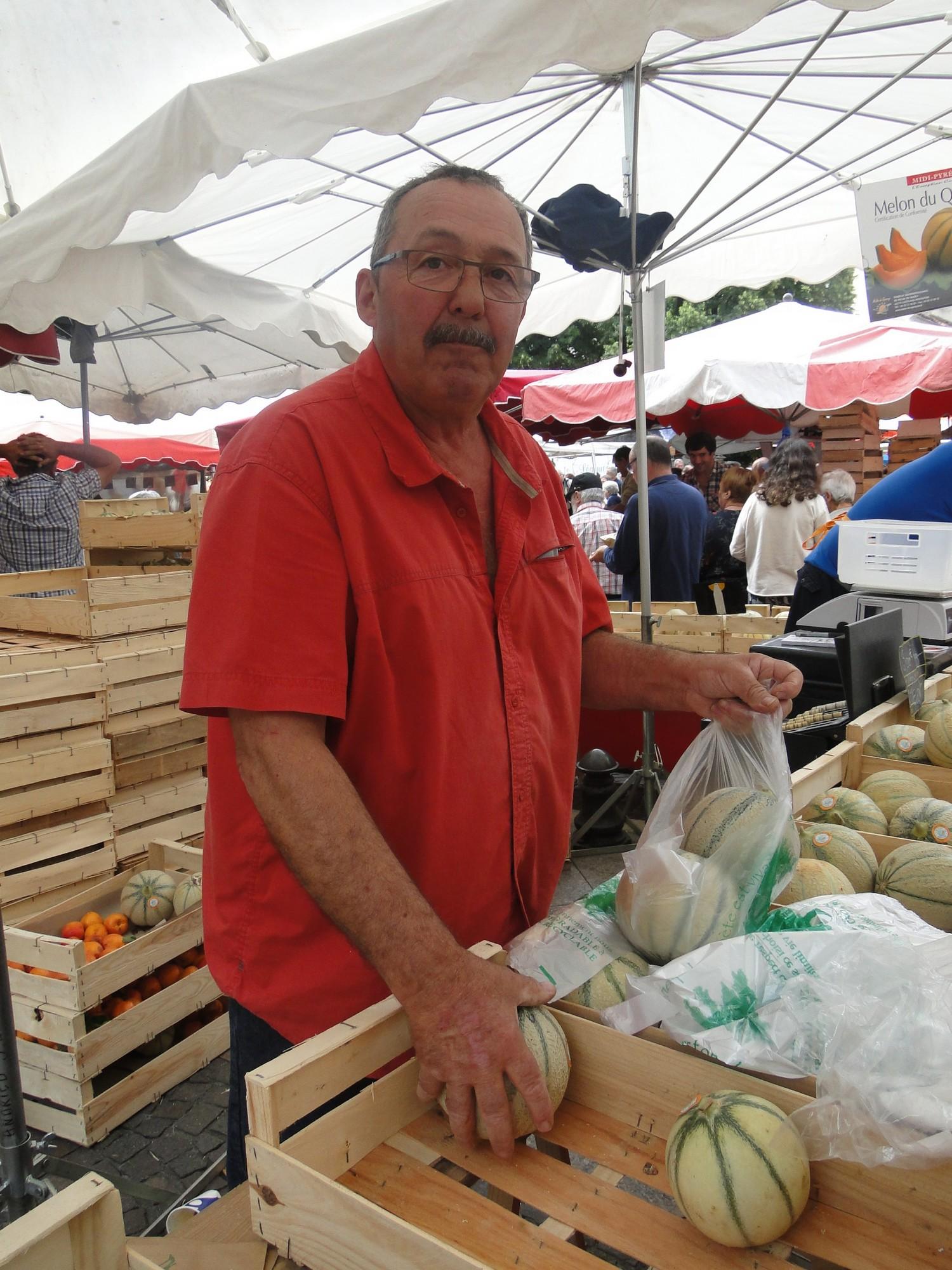Jean Louis ANDRIEU producteur de melons à Montpezat de Quercy -82270