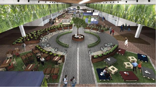 le futur hall d'entrée du parc