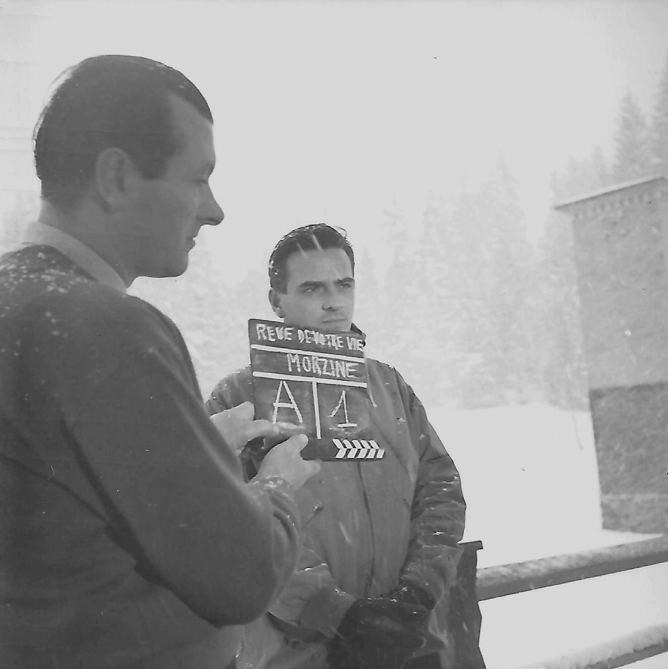 BOURGEON Roger tournage le rêve de votre vie Morzine 1958