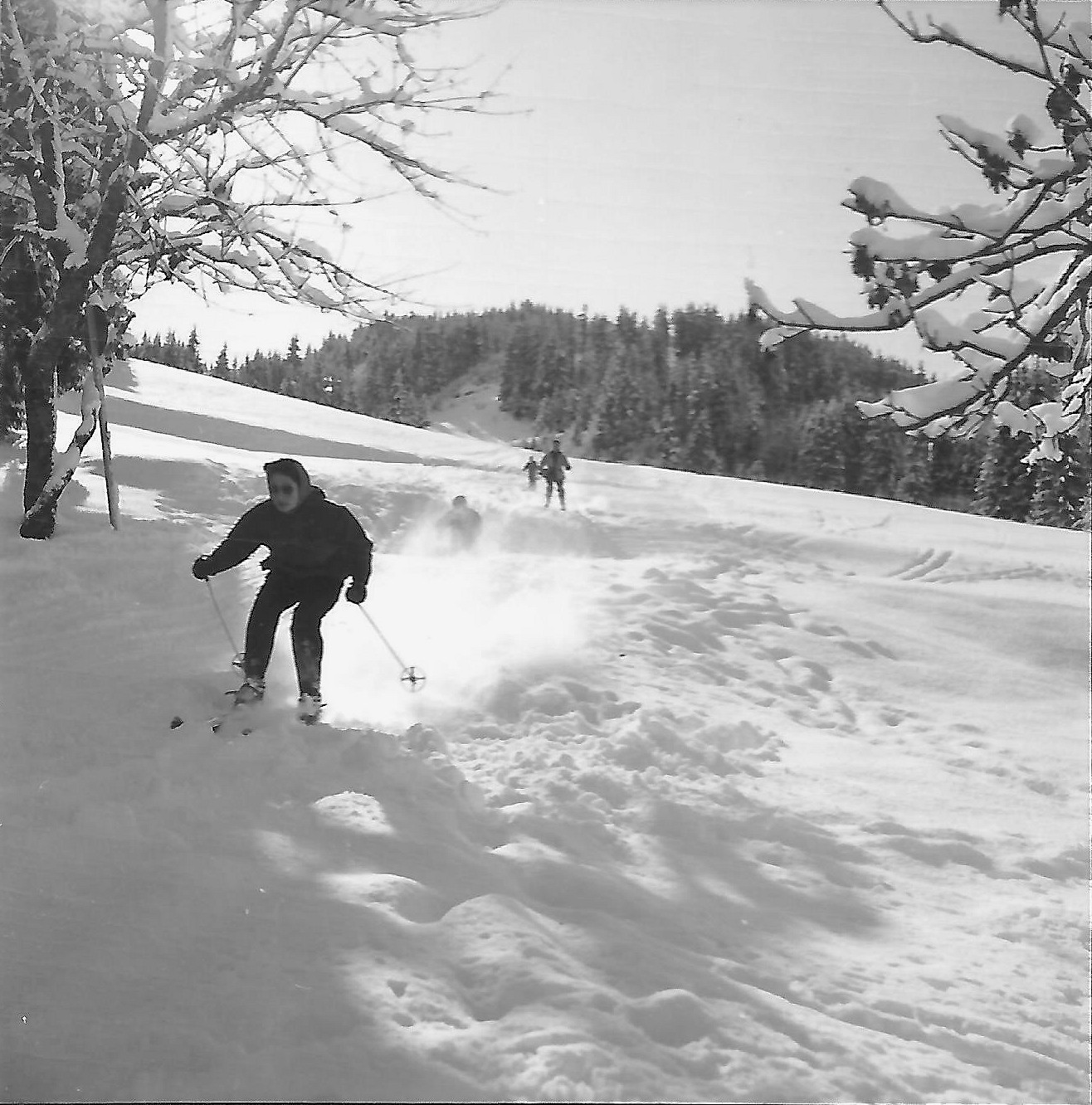 sur la piste B du Pleney en 1958