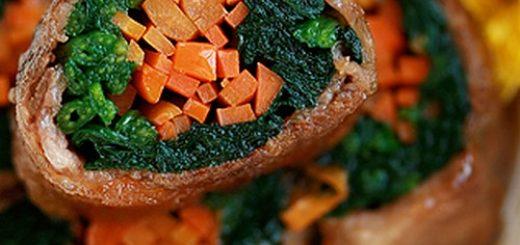 rouleaux à la viande et aux légumes Japon