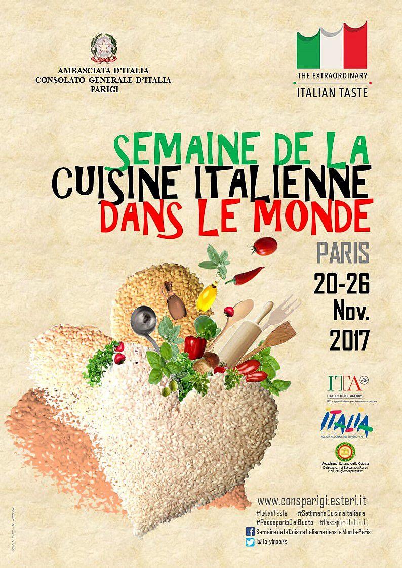 Semaine de la cuisine italienne dans le monde - Paris