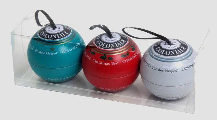 3 boules de thé sur fond blanc