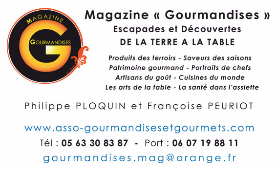 carte visite magazine gourmandises