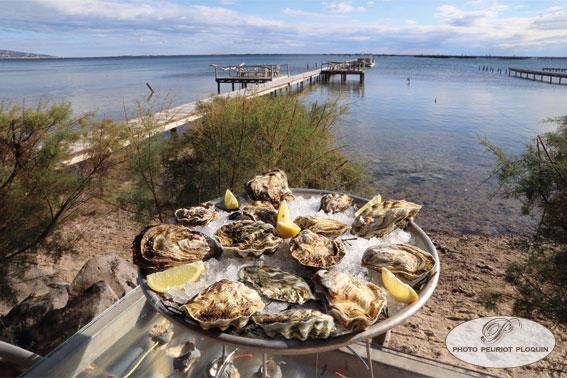 plateau de fruits de mer et ponton
