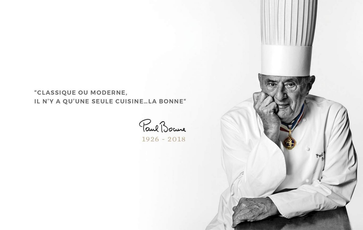 la home du site Paul Bocuse