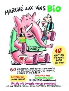 affiche vins bio montreuil
