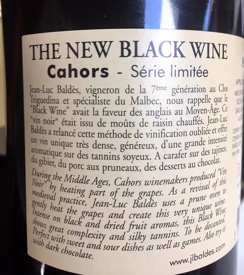 etiquette new black wine