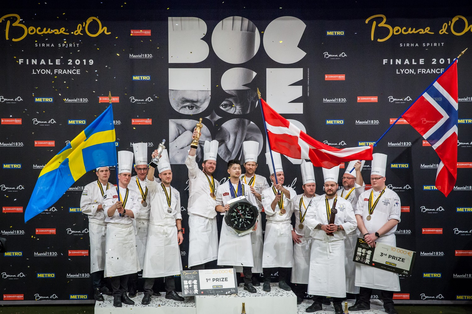 le podium nordique du Bocuse d'Or 2019 ©DR