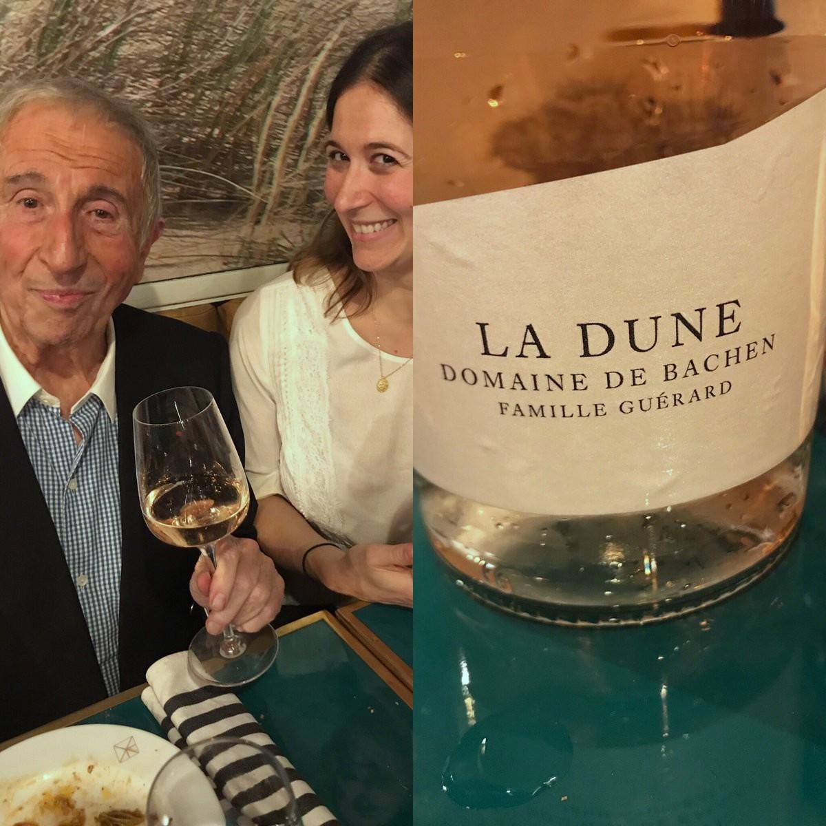 Michel Guérard et sa fille Eléonore heureux avec leur nouveau rosé La Dune fait en complicité avec OsminCie ©DR