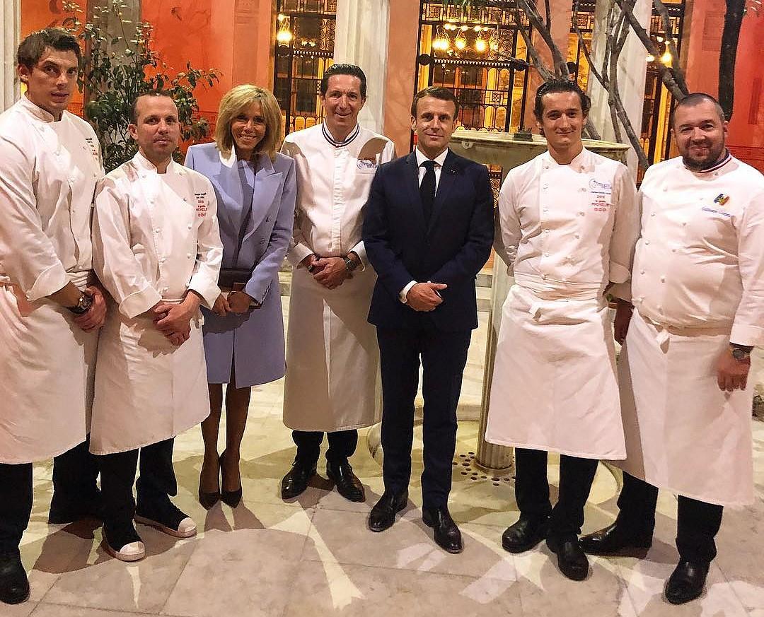 les chefs et le couple Macron pour le diner franco-chinois ©DR