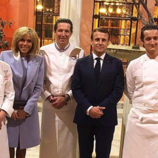 vignette les chefs et le couple Macron pour le diner franco-chinois
