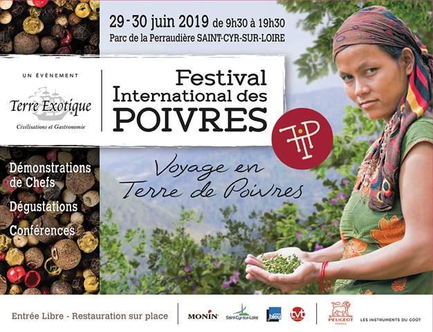 Festival International des Poivres Terre Exotique 29-30 juin 2019 en Touraine