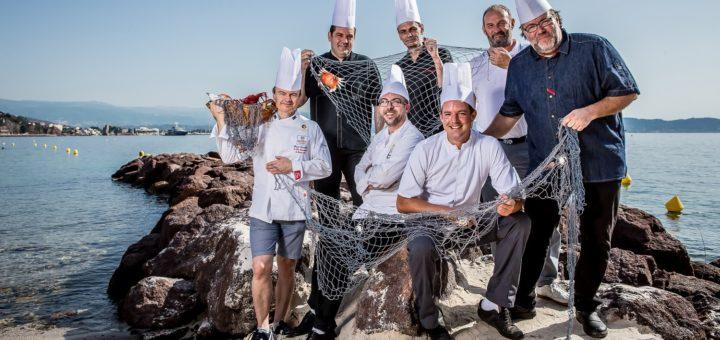 les chefs de théoule sur mer, des copains comme poisson! © DR